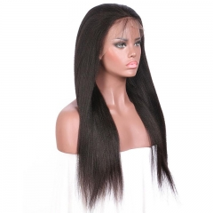 Spicyhair 100% No Tangle Yaki straight 360 lace human wig
