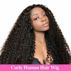 Spicyhair  Natural looking Kinky Curly human hair full lace wig
