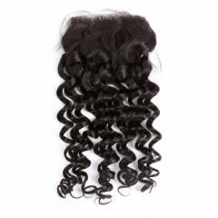 Spicyhair Tangle free 10A Venta directamente de Factory kinkycurly 4 × 4 lace closure